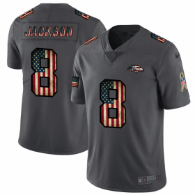 Wholesale Cheap Baltimore Ravens #8 Lamar Jackson Nike 2018 Salute to Service Retro USA Flag Limited NFL Jersey