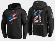 Wholesale Cheap Coyotes #21 Derek Stepan NHL Banner Wave Usa Flag Black Hoodie