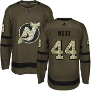 Wholesale Cheap Adidas Devils #44 Miles Wood Green Salute to Service Stitched NHL Jersey