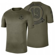 Wholesale Cheap Dallas Cowboys #19 Amari Cooper Olive 2019 Salute To Service Sideline NFL T-Shirt