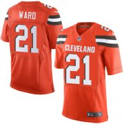 Wholesale Cheap Nike Browns #21 Denzel Ward Orange Alternate Men's Stitched NFL Elite Jersey