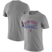 Wholesale Cheap New York Mets Nike Away Practice T-Shirt Heathered Gray