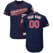 Wholesale Cheap Minnesota Twins Majestic Alternate Flex Base Authentic Collection Custom Jersey Navy