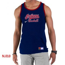 Wholesale Cheap Men\'s Nike Cleveland Indians Home Practice Tank Top Blue