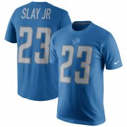 Wholesale Cheap Detroit Lions #23 Darius Slay Jr Nike Player Pride Name & Number T-Shirt Blue