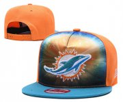 Wholesale Cheap Dolphins Team Logo Orange Royal Adjustable Leather Hat TX