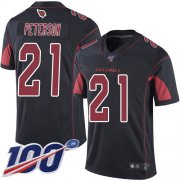 Wholesale Cheap Nike Cardinals #21 Patrick Peterson Black Men's Stitched NFL Limited Rush 100th Season Jersey