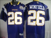 Wholesale Cheap Vikings #26 Antoine Winfield Purple Team 50TH Patch Stitched NFL Jersey