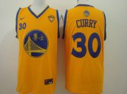 Wholesale Cheap Men's Golden State Warriors #30 Stephen Curry Chinese Yellow Nike Authentic Jersey