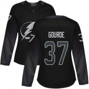 Cheap Adidas Lightning #37 Yanni Gourde Black Alternate Authentic Women's Stitched NHL Jersey