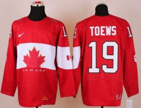 Wholesale Cheap Olympic 2014 CA. #19 Jonathan Toews Red Stitched NHL Jersey