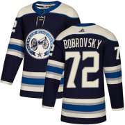 Wholesale Cheap Adidas Blue Jackets #72 Sergei Bobrovsky Navy Alternate Authentic Stitched Youth NHL Jersey