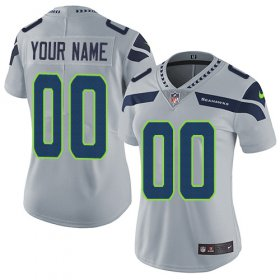 Wholesale Cheap Nike Seattle Seahawks Customized Grey Alternate Stitched Vapor Untouchable Limited Women\'s NFL Jersey
