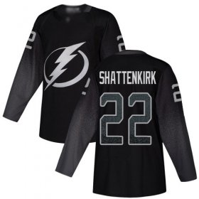 Cheap Adidas Lightning #22 Kevin Shattenkirk Black Alternate Authentic Youth Stitched NHL Jersey