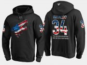 Wholesale Cheap Coyotes #34 Zac Rinaldo NHL Banner Wave Usa Flag Black Hoodie