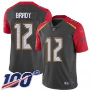 Wholesale Cheap Nike Buccaneers #12 Tom Brady Gray Men's Stitched NFL Limited Inverted Legend 100th Season Jersey