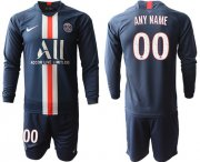 Wholesale Cheap Paris Saint-Germain Personalized Home Long Sleeves Soccer Club Jersey