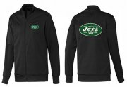 Wholesale Cheap NFL New York Jets Team Logo Jacket Black_1