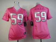 Wholesale Cheap Nike Texans #59 Whitney Mercilus Pink Women's Be Luv'd Stitched NFL Elite Jersey