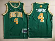 Wholesale Cheap Boston Celtics #4 Isaiah Thomas Green St. Patrick's Day Swingman Jersey