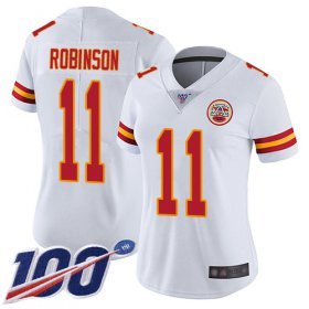 Wholesale Cheap Nike Chiefs #11 Demarcus Robinson White Women\'s Stitched NFL 100th Season Vapor Limited Jersey