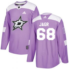 Wholesale Cheap Adidas Stars #68 Jaromir Jagr Purple Authentic Fights Cancer Stitched NHL Jersey