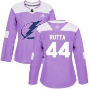 Cheap Adidas Lightning #44 Jan Rutta Purple Authentic Fights Cancer Women's Stitched NHL Jersey