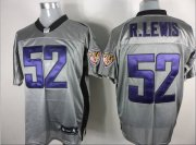 Wholesale Cheap Ravens #52 Ray Lewis Grey Shadow Stitched NFL Jersey