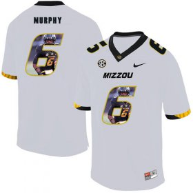 Wholesale Cheap Missouri Tigers 6 Marcus Murphy III White Nike Fashion College Football Jersey