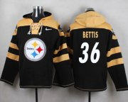 Wholesale Cheap Nike Steelers #36 Jerome Bettis Black Player Pullover NFL Hoodie