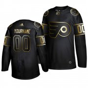 Wholesale Cheap Adidas Flyers Custom Men's 2019 Black Golden Edition Authentic Stitched NHL Jersey