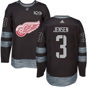 Wholesale Cheap Adidas Red Wings #3 Nick Jensen Black 1917-2017 100th Anniversary Stitched NHL Jersey