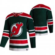 Wholesale Cheap New Jersey Devils Blank Green Men's Adidas 2020-21 Reverse Retro Alternate NHL Jersey