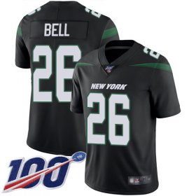 Wholesale Cheap Nike Jets #26 Le\'Veon Bell Black Alternate Youth Stitched NFL 100th Season Vapor Limited Jersey