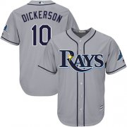 Wholesale Cheap Rays #10 Corey Dickerson Grey Cool Base Stitched Youth MLB Jersey