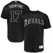Wholesale Cheap Los Angeles Angels #17 Shohei Ohtani Showtime Majestic 2019 Players' Weekend Flex Base Authentic Player Jersey Black