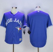 Wholesale Cheap Blue Jays Blank Blue New Cool Base Stitched MLB Jersey