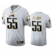 Wholesale Cheap Philadelphia Eagles #55 Brandon Graham Men's Nike White Golden Edition Vapor Limited NFL 100 Jersey