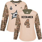 Cheap Adidas Stars #4 Miro Heiskanen Camo Authentic 2017 Veterans Day Women's 2020 Stanley Cup Final Stitched NHL Jersey