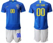 Wholesale Cheap Brazil Personalized Blue Soccer Country Jersey