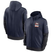Wholesale Cheap Denver Broncos Nike Sideline Impact Lockup Performance Full-Zip Hoodie Navy