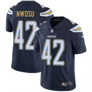 Wholesale Cheap Nike Chargers #42 Uchenna Nwosu Navy Blue Team Color Men's Stitched NFL Vapor Untouchable Limited Jersey