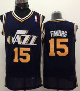 Wholesale Cheap Utah Jazz #15 Derrick Favors Navy Blue Swingman Jersey