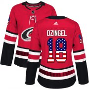 Wholesale Cheap Adidas Hurricanes #18 Ryan Dzingel Red Home Authentic USA Flag Women's Stitched NHL Jersey