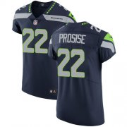Wholesale Cheap Nike Seahawks #22 C. J. Prosise Steel Blue Team Color Men's Stitched NFL Vapor Untouchable Elite Jersey