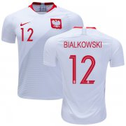 Wholesale Cheap Poland #12 Bialkowski Home Soccer Country Jersey