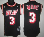Wholesale Cheap Miami Heat #3 Dwyane Wade ABA Hardwood Classics Swingman Black Jersey