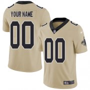 Wholesale Cheap Nike New Orleans Saints Customized Gold Men's Stitched NFL Limited Inverted Legend Jersey
