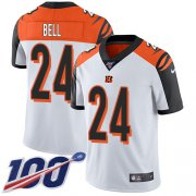 Wholesale Cheap Nike Bengals #24 Vonn Bell White Men's Stitched NFL 100th Season Vapor Untouchable Limited Jersey