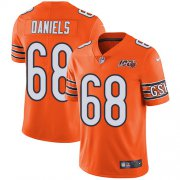 Wholesale Cheap Nike Bears #68 James Daniels Orange Men's 100th Season Stitched NFL Limited Rush Jersey